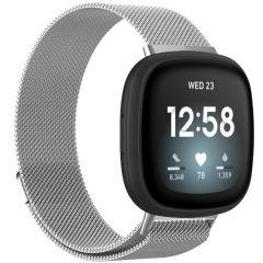 iMoshion Milanees Watch bandje Fitbit Sense / Versa 3 - Zilver