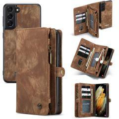 CaseMe Luxe Lederen 2 in 1 Portemonnee Booktype Samsung Galaxy S21