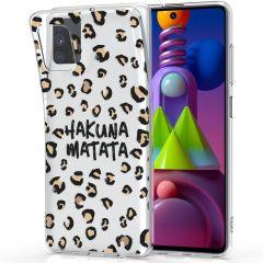iMoshion Design hoesje Samsung Galaxy M51 - Luipaard - Bruin / Zwart