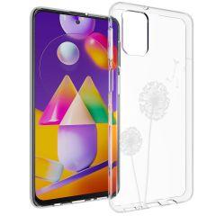 iMoshion Design hoesje Samsung Galaxy M31s - Paardenbloem - Wit