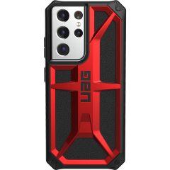 UAG Monarch Backcover Samsung Galaxy S21 Ultra - Crimson Red