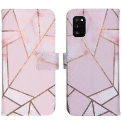 iMoshion Design Softcase Book Case Samsung Galaxy A41 - Pink Graphic