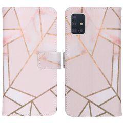 iMoshion Design Softcase Book Case Samsung Galaxy A51 - Pink Graphic