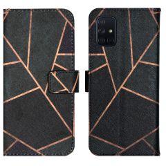 iMoshion Design Softcase Book Case Samsung Galaxy A71 - Black Graphic