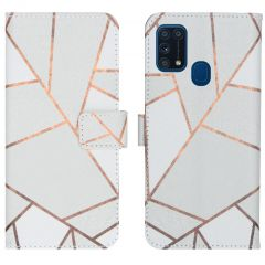 iMoshion Design Softcase Book Case Samsung Galaxy M31 - White Graphic