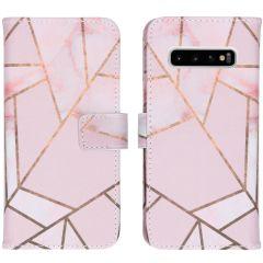 iMoshion Design Softcase Book Case Samsung Galaxy S10 - Pink Graphic
