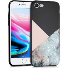 iMoshion Design hoesje iPhone SE (2020) / 8 / 7 - Marmer - Roze