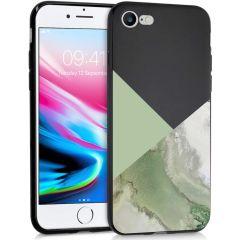 iMoshion Design hoesje iPhone SE (2020) / 8 / 7 - Marmer - Groen