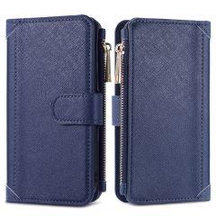 iMoshion Luxe Portemonnee iPhone SE (2020) 8 / 7 - Donkerblauw