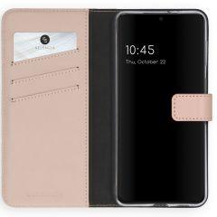 Selencia Echt Lederen Booktype Samsung Galaxy S21 Plus - Roze