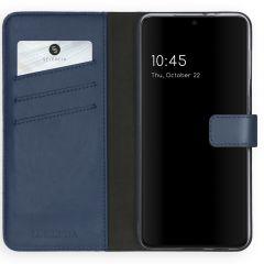 Selencia Echt Lederen Booktype Samsung Galaxy S21 Plus - Blauw