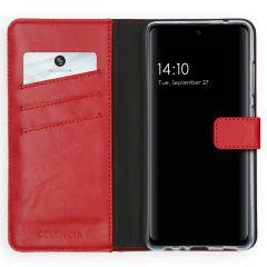Selencia Echt Lederen Booktype Galaxy A52 (5G) / A52 (4G) - Rood