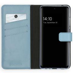 Selencia Echt Lederen Booktype Galaxy A52 (5G) / A52 (4G) -Lichtblauw