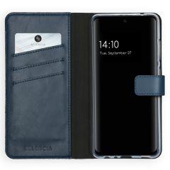 Selencia Echt Lederen Booktype Galaxy A52 (5G) / A52 (4G) - Blauw
