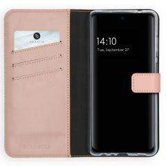 Selencia Echt Lederen Booktype Samsung Galaxy A72 - Roze