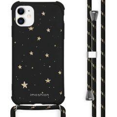 iMoshion Design hoesje met koord iPhone 11 - Sterren - Zwart / Goud