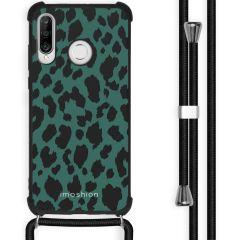 iMoshion Design hoesje met koord Huawei P30 Lite - Luipaard - Groen