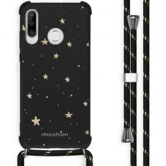 iMoshion Design hoesje met koord Huawei P30 Lite - Sterren - Zwart