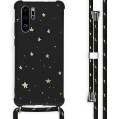 iMoshion Design hoesje met koord Huawei P30 Pro - Sterren - Zwart