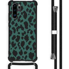 iMoshion Design hoesje met koord Huawei P30 Pro - Luipaard - Groen