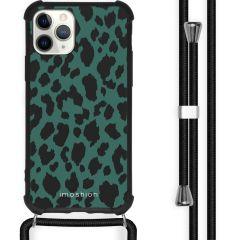 iMoshion Design hoesje met koord iPhone 11 Pro - Luipaard - Groen
