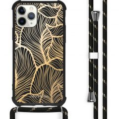 iMoshion Design hoesje met koord iPhone 11 Pro - Bladeren - Goud