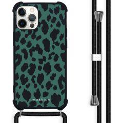 iMoshion Design hoesje met koord iPhone 12 (Pro) - Luipaard
