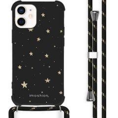 iMoshion Design hoesje met koord iPhone 12 Mini - Sterren - Zwart