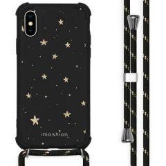iMoshion Design hoesje met koord iPhone X / Xs - Sterren - Zwart