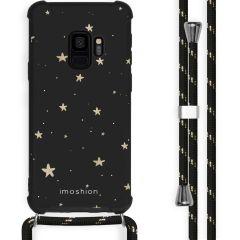 iMoshion Design hoesje met koord Samsung Galaxy S9 - Sterren - Zwart