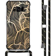 iMoshion Design hoesje met koord Samsung Galaxy S8 - Bladeren - Goud