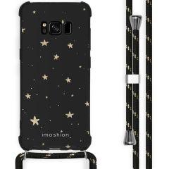 iMoshion Design hoesje met koord Samsung Galaxy S8 - Sterren - Zwart