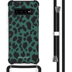 iMoshion Design hoesje met koord Samsung Galaxy S10 Plus - Luipaard