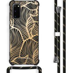 iMoshion Design hoesje met koord Samsung Galaxy S20 Plus - Bladeren