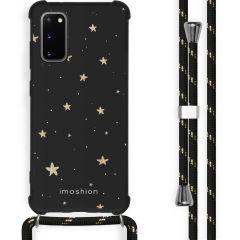 iMoshion Design hoesje met koord Samsung Galaxy S20 - Sterren - Zwart