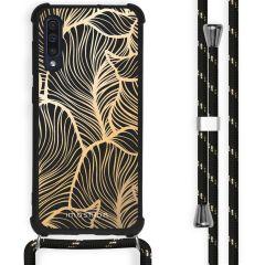 iMoshion Design hoesje met koord Samsung Galaxy A50 - Bladeren - Goud