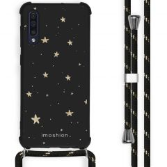 iMoshion Design hoesje met koord Samsung Galaxy A50 - Sterren - Zwart