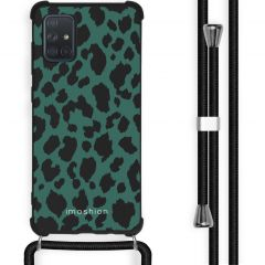 iMoshion Design hoesje met koord Samsung Galaxy A71 - Luipaard