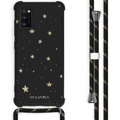 iMoshion Design hoesje met koord Samsung Galaxy A41 - Sterren - Zwart