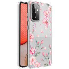 iMoshion Design hoesje Samsung Galaxy A72 - Bloem - Roze