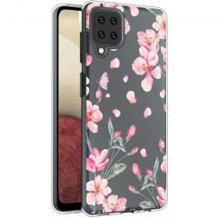 iMoshion Design hoesje Samsung Galaxy A12 - Bloem - Roze