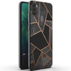 iMoshion Design hoesje Galaxy M11 / A11 - Grafisch Koper - Zwart/Goud