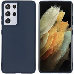 iMoshion Color Backcover Samsung Galaxy S21 Ultra - Donkerblauw