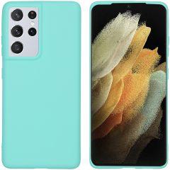 iMoshion Color Backcover Samsung Galaxy S21 Ultra - Mintgroen