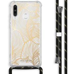 iMoshion Design hoesje met koord Huawei P30 Lite - Bladeren - Goud
