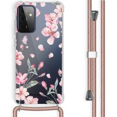 iMoshion Design hoesje met koord Samsung Galaxy A72 - Bloem - Roze