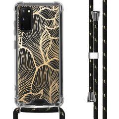 iMoshion Design hoesje met koord Samsung Galaxy S20 - Bladeren - Goud