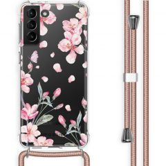 iMoshion Design hoesje met koord Galaxy S21 Plus - Bloem - Roze