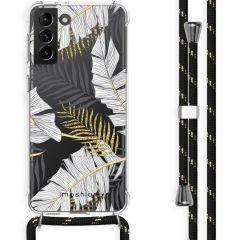 iMoshion Design hoesje met koord Galaxy S21 Plus - Bladeren