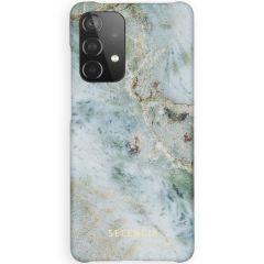 Selencia Fashion Backcover Galaxy A52 (5G) / A52 (4G) - Marble Blue